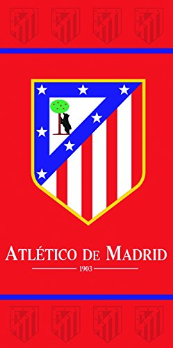 Atlético de Madrid Toalla, Algodón, Rojo, 39x26x5 cm