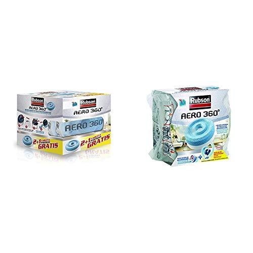 Rubson 2178378 Tabletas de Recambio, Set de 3 Piezas + Recambios Para Deshumificador Aero 360, Color Azul