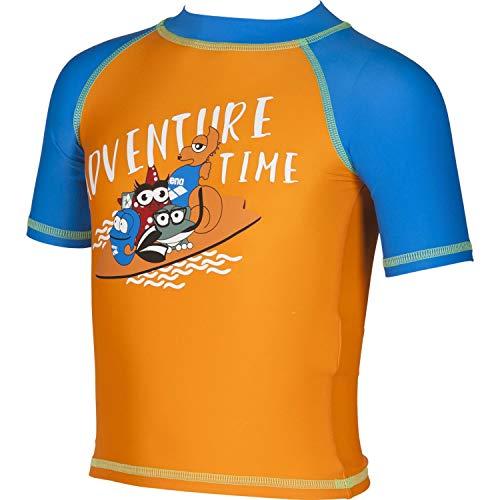 ARENA Jungen UV-T-Shirt AWT Kids Boy UV S/S Tee 002055 Tangerine-PIX Blue 116