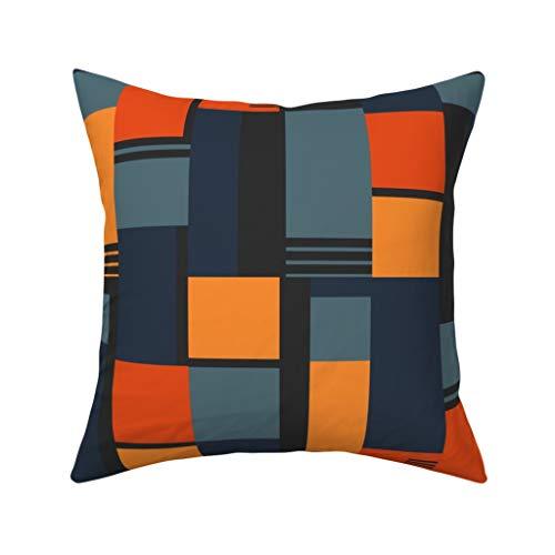 MrRui Bauhaus inspirierter Kissenbezug 45,7 x 45,7 cm Baumwolle Home Dekorative quadratisch für Sofakissenbezug, 45 x 45 cm, Baumwolle, einfarbig, 50 x 50 cm