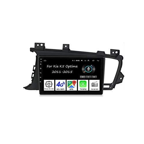 Car Multimedia Autoradio Doppeldin Radio Mit Navigation Für Kia K5 Optima 2011-2015 Auto Zubehör Einfügen Und Verwenden Navigationsgeräte GPS Car Video Player Steering Wheel Control,8 Cores 2G+32G