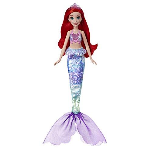 Hasbro Disney Prinzessinnen Zaubermelodie Arielle, musikalische Puppe mit leuchtendem Oberteil (singt auf russisch und deutsch), E4638RG2, Multicolor
