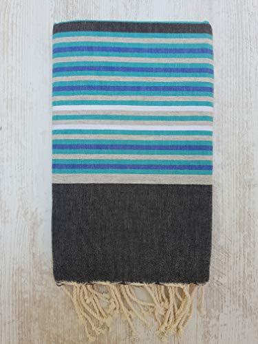 Miktex 5 Farben FOUTA, Hochwertiges FOUTA Handtuch - Größe XL 170x130 cm - 100prozent Baumwolle - 380 Gramm - Weich, glatt, leicht & sehr saugfähig - Strandtuch, Sofabezug, Tischdecke, Tagesdecke, Sarong