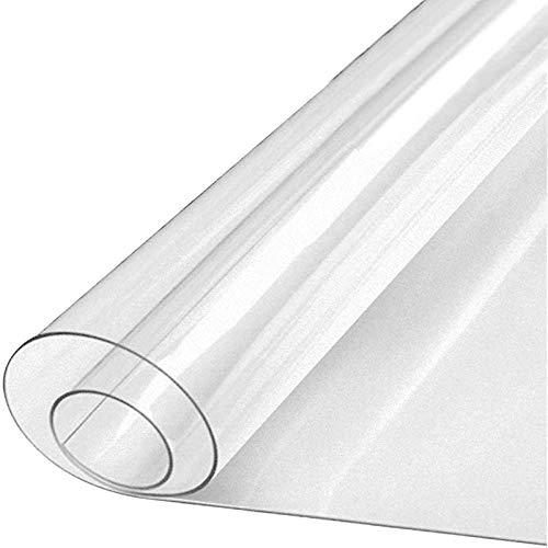 FXDCQC Estera De ProteccióN para El Suelo, 0.5mm Transparente Protector De Suelo, PVC para Oficina con Diente para Alfombras De Pelo Low-Medium Suelos(100x120cm/39.37x47.24in)
