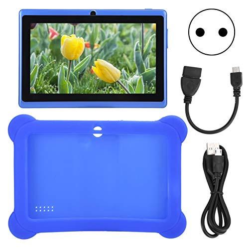 FOLOSAFENAR 7 Pollici HD Bambini Kid Tablet PC Connessione WiFi Tablet Computer Custodia Protettiva in Silicone(Euro)