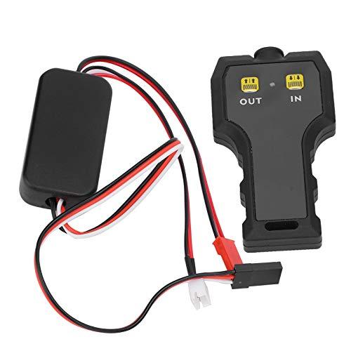 Haowecib Control Remoto del cabrestante RC, Controlador de cabrestante RC de Metal Negro Durable para Redcat