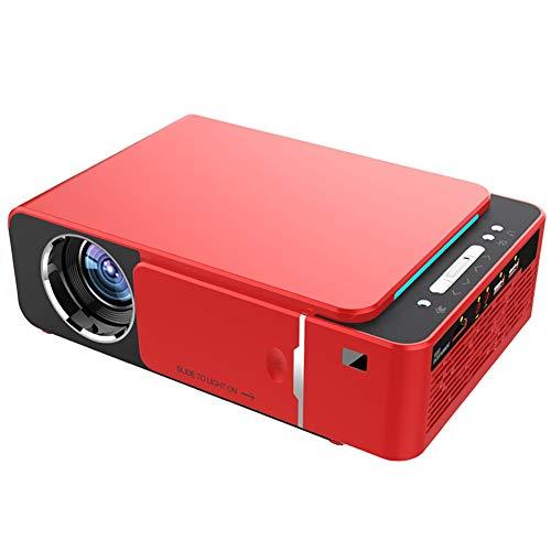 GZP Mini Beamer, Tragbarer LED Video Beamer, Full HD 1080P-Projektor, Kompatibel Mit HDMI/VGA/USB/AV-Eingang, Multiscreen-Einstellung, Geeignet Für Heimkino Und Unterhaltung Im Freien,Rot