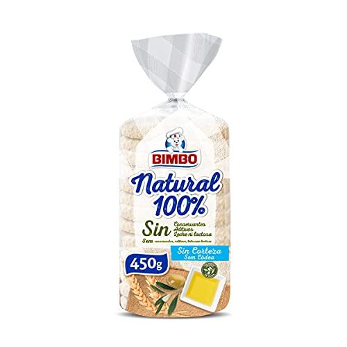 Bimbo - Natural 100% Pan sin Corteza 450g, 16 Rebanadas