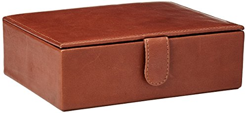 Preisvergleich Produktbild Piel Leather Große Leder-Geschenkbox.,  Sattel (Braun) - 2352