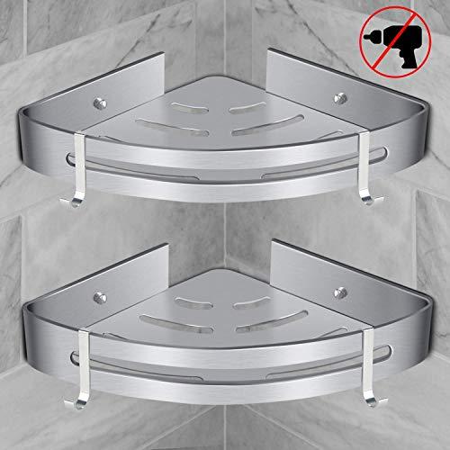 Baibao badkamer hoek planken bad douche Caddy hoek opslag houder plank muur douche mand opknoping voor douche keuken 2 lagen