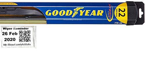 Hybrid - Passenger Windshield Wiper Blade for 2000-2008 Jaguar S-Type & Reminder Sticker