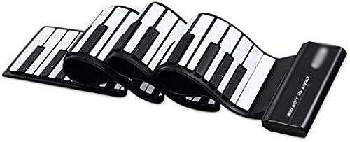 Hand Roll Piano 88 Schlüssel Professional Version MIDI Keyboard Startseite Erwachsene Anf er Studenten Klapp Tragbare Soft Piano Pedal + Kopfürer + Piano Paste + Notenst er + Klavier Tasche
