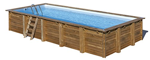 Piscina de madera GRE rectangular Braga Wooden Pool GRE 790095