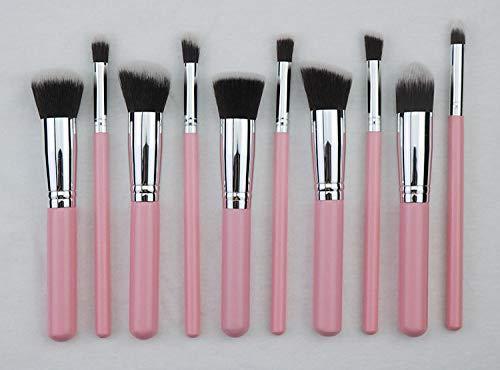 MPKHNM Makeup Tools 10 Makeup Brush Sets 5 Big 5 Beauty Tools Powder Silver