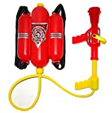 4E's Novelty Firefighter Backpack Double Tank - Fireman Backpack Water Gun Blaster -Large Super Water Squirt Suitable for Beach, Lake, Swimming Pool, Outdoor Activities for Kids