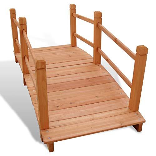 "Lechnical Gartenbrücke, Garden Bridge Moon Bridges Gartenbrücken aus gewölbtem Holz im japanischen Stil 4 '7""x 1' 12"" x 1 '10"""