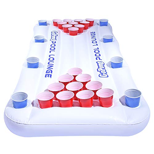 GoPong Pool Lounge Floating Beer Pong Table Inflatable with Social