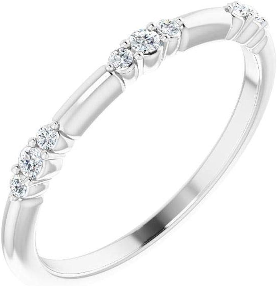 Diamond Stackable Wedding Anniversary Ring Band