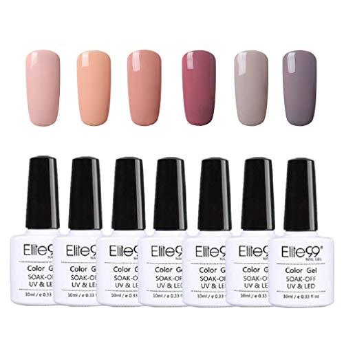 Elite99 UV LED Nagellack set UV Gel shellac set sock off gel peer off nagellack UV farbgel gel Nail Art polish 6x10ml