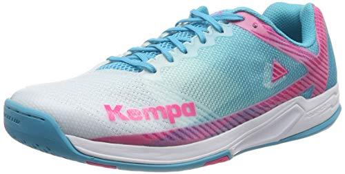 Kempa WING 2.0 WOMEN, Damen Handballschuhe, Mehrfarbig (weiß/skyblau 01), 37 EU (4 UK)