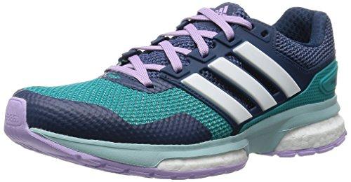 adidas Herren Response Boost 2 Laufschuhe, Grün (Shock Green S16/Ftwr White/Purple Glow S16), 37 1/3 EU