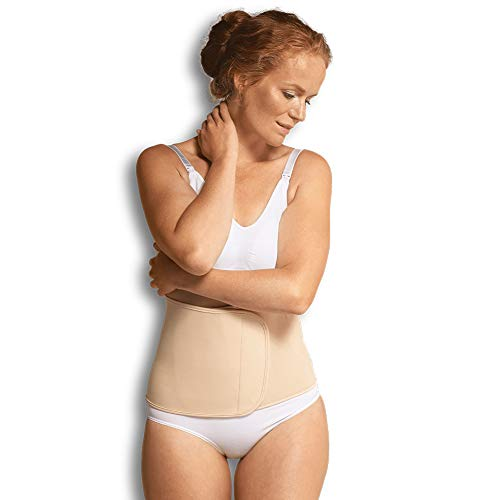 Carriwell verstellbares Bauchband mit Klettverschluss, unterstützt Rückbildung nach Schwangerschaft, Bauchbinde, reduziert Schwangerschaftsstreifen, natur, Größe: S/M