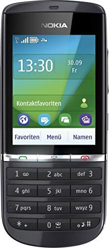 Nokia Asha 300 Handy (6,1 cm (2,4 Zoll) Bildschirm, Touchscreen, 5 Megapixel Kamera) Graphite (Generalüberholt)