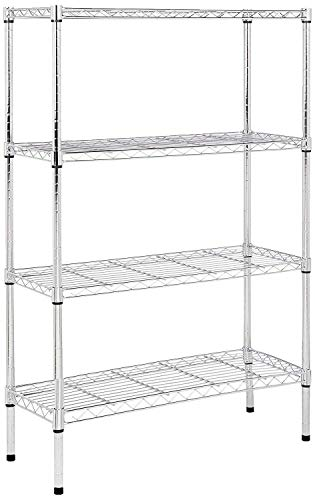 AmazonBasics 4-Tier Wire Storage Shelves Rack, Chrome