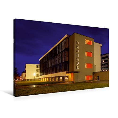 Premium Textil-Leinwand 90 x 60 cm Quer-Format Bauhaus | Wandbild, HD-Bild auf Keilrahmen, Fertigbild auf hochwertigem Vlies, Leinwanddruck von LianeM