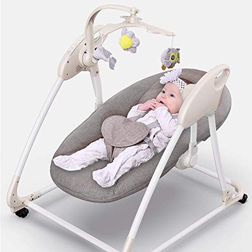 Find Discount KJRJYY Baby Rocking Chair,Deluxe Take-Along Swing-Seat,Intelligent Voice Control B...
