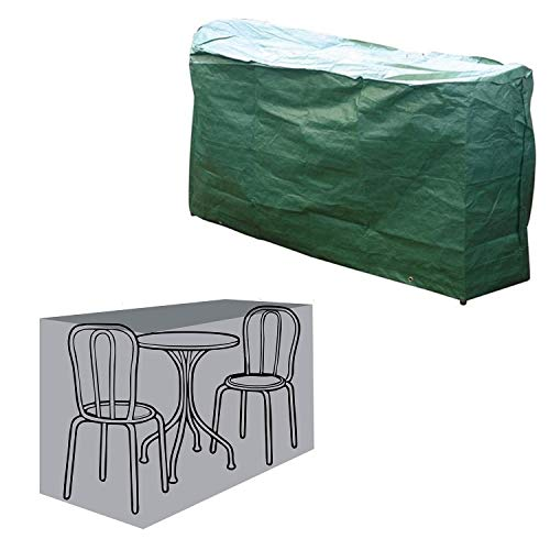 Parkland Rectangular Garden Furniture Table and Chairs Bistro Set Cover - Green Waterproof Cover for Outdoor Furniture - L150cm x W80cm x H90cm
