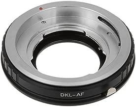Fotodiox Lens Mount Adapter, Voigtlander Bessamatic Retina DKL lenses DKL lens to Sony Alpha Camera, For Sony A100, A200, A230, A290, A300, A330, A350, A380, A390, A450, A500, A550, A560, A580, A700, A850, A900, SLT-A35, A33, A37, A55, A57, A65, A77