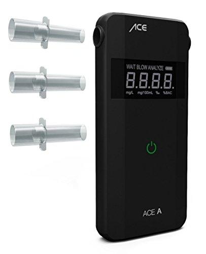ACE AF-20 Alkoholtester - A - Polizeigenauer Promilletester zur Atemalkohol-Kontrolle - inkl. Batterien