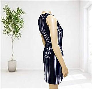 Emoltem Women's Sleeveless O-Neck Dress