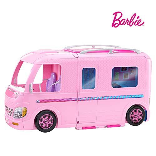 Barbie Mobilier Camping-Car Transformable pour poupées, véhi