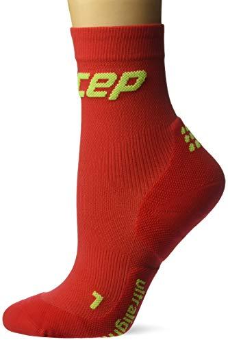 CEP Damen Kompressionsbekleidung Ultralight Short Socks, rot, 2