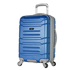 High quality aluminum locking handle system, and 4 wheel spinner design, allows weight free movement in all directions. Grip handle on the bottom for easy carriage Internal zippered divider w/shoe pockets and mesh zip pocket, with additional interior...