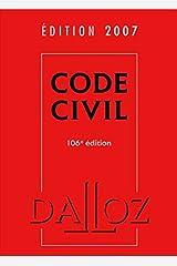 Code civil 2007 - 106e éd.: Codes Dalloz Universitaires et Professionnels Relié