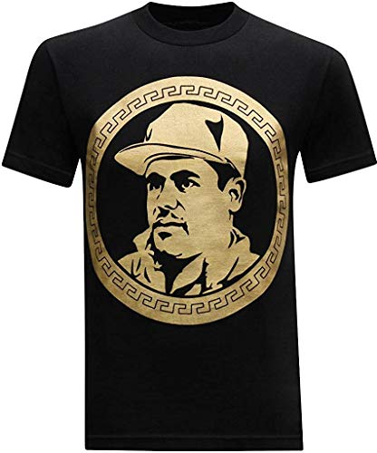 MichaelWare El Chapo Guzman Currency Fashion T-Shirts for Mens Womens Summer Short Sleeve Crewneck Graphic Tees Casual Tops,Black,XX-Large
