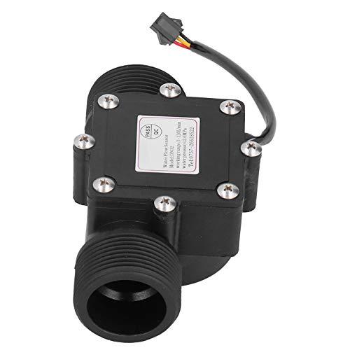Contador de caudalímetro de agua de tubería, YF ‑ DN32 Medidor de caudal de agua industrial G1.25in, sensor Hall DC3‑24V, resistente a la corrosión para calentadores de agua, bebederos