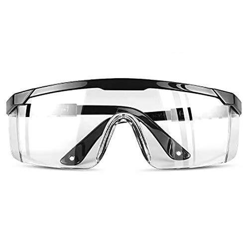 Lunettes de sécurité, Eyes Protectior avec Monture réglable, Yeux Coupe-Vent, Empêche Les Lunettes de buée, Lunettes de Protection de Travail Transparentes
