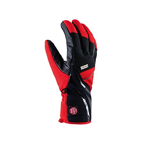 VIKING Kona Gants de ski respirants pour homme Noir/rouge Taille 7