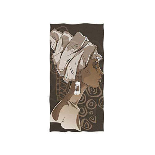 Bert-Collins Towel Toallas de Playa Suaves, Retratos de Mujeres africanas Toallas de Playa Altamente absorbentes para baño 80x130cm TWL-910