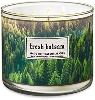 Bath & Body Works 3-Wick Candle in Fresh Balsam - packaging may vary
