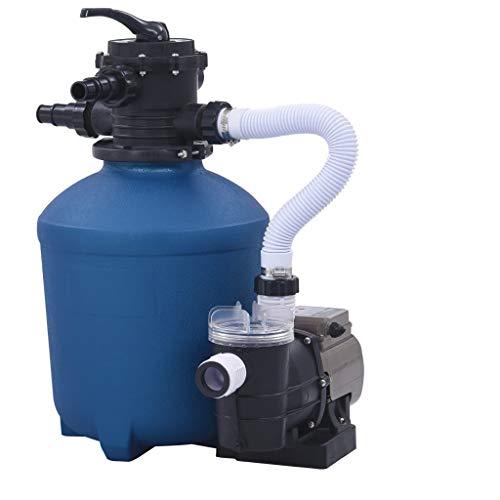 vidaXL Sandfilteranlage mit Zeitschaltuhr Sandfilterpumpe Sandfilter Poolfilter Poolpumpe Filteranlage Filterkessel Filter Pool Pumpe 530W 10980L/h