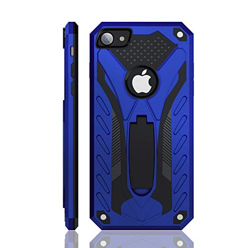 iPhone 7 Case | iPhone 8 Case | iPhone SE 2020 | Military Grade | 12ft. Drop Tested Protective Case | Kickstand | Wireless Charging | Compatible with Apple iPhone 7 / iPhone 8 / iPhone SE 2020 - Blue