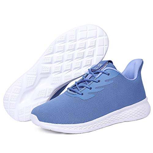 ZYEN Tennis Walking Shoes Women Athletic Running Sneakers-Casual Lace Up Lightweight Travel Work Shoe 5503 Blue38