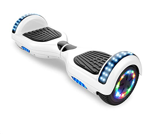 Self-Balancing Scooter, Elektro Scooter 6,5 Hover Scooter Board Bluetooth Scooter mit bunten Lichter Bluetooth eingebaute Geschenk