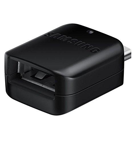 Samsung GH98-41288A OTG-Adapter, USB-Typ-A auf USB-Typ-C-Anschluss für Galaxy S8/S8 Plus und andere Typ-C-Handys (Keine Einzelhandelsverpackung) Schwarz