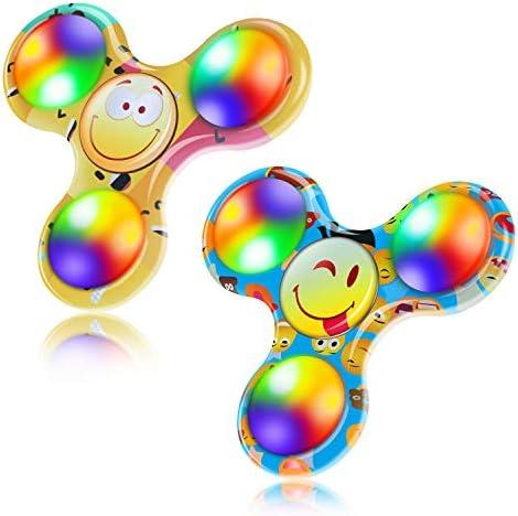 FIGROL Emoji Fidget Spinner 2Pack LED Light Fidget Spinner product image